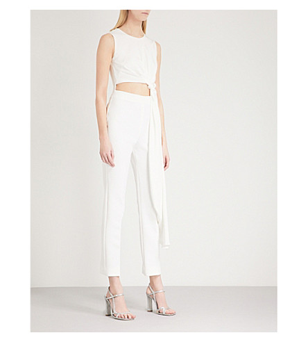 ROKSANDA Thurloe silk-blend jumpsuit Ivory Discount Sneakernews Low Price For Sale Many Kinds Of Cheap Online Cheap Outlet Fj6EdSIq