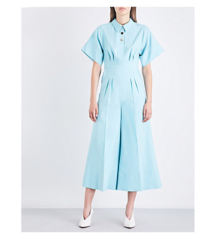 ROKSANDA Kallisto wool and silk-blend jumpsuit (Spring+blue