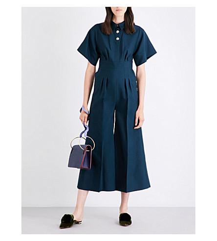 ROKSANDA Kallisto wool and silk-blend jumpsuit (Peacock