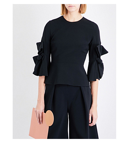 ROKSANDA Kemi cady top (Black