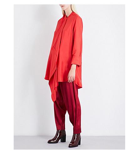 ROKSANDA Akano silk-satin shirt (Red