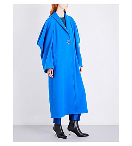 ROKSANDA Hotaru oversized wool and cashmere-blend coat (Cobalt