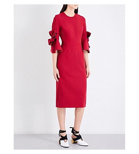 ROKSANDA Lavete stretch-crepe midi dress (Cherry/orchid