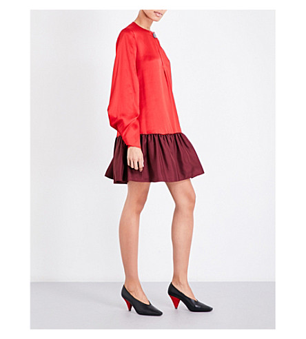ROKSANDA Katra silk-crepe shift dress (Rouge