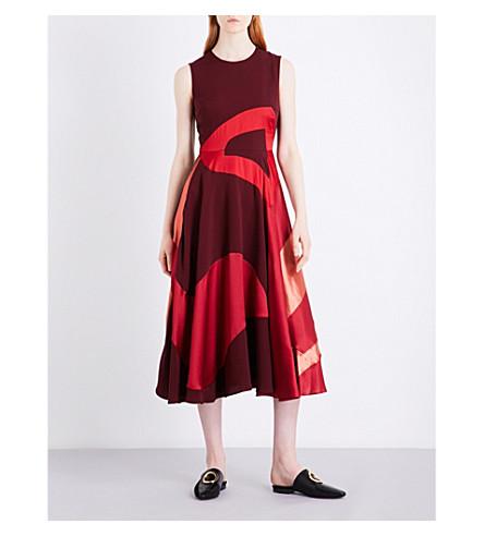 ROKSANDA Keanu silk-blend midi dress (Rouge/cherry/berry