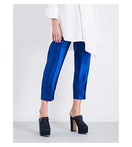 ROKSANDA Surikov cigarette wool-blend trousers (Cobalt