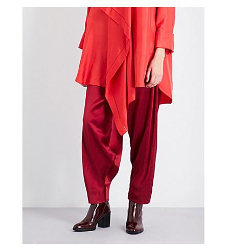 ROKSANDA Castello wide silk trousers (Cherry