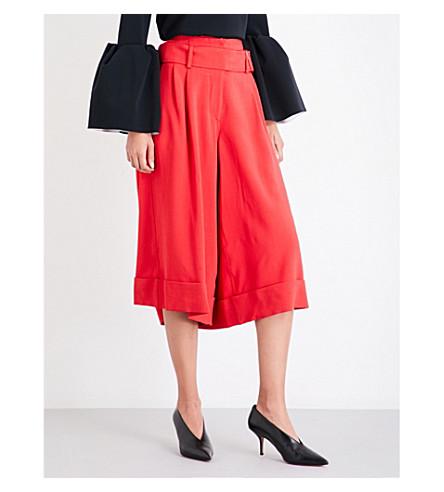 ROKSANDA Caloux wide woven culottes (Rouge
