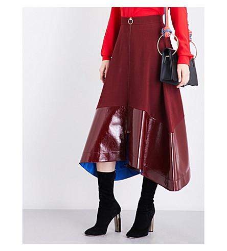 ROKSANDA Oriana wool-blend midi skirt (Berry