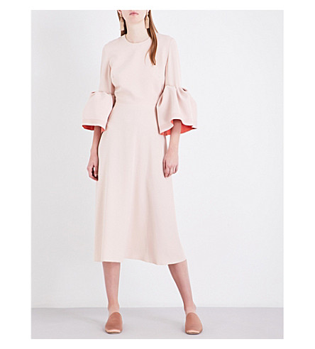 ROKSANDA Hadari stretch-crepe midi dress (Vintage+rose/apricot