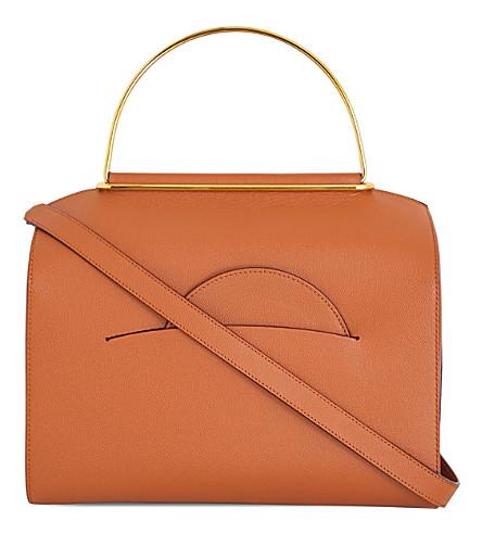 ROKSANDA Louise grained leather shoulder bag (Tobacco