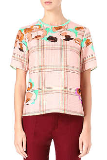 ROKSANDA ILINCIC Checked-print top