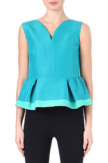 ROKSANDA ILINCIC Sleeveless peplum-detail top