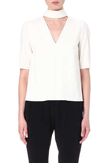 ROKSANDA ILINCIC Collared wool-blend top