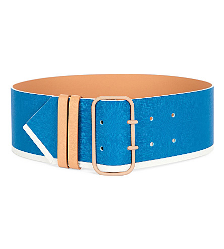 Wide Grained-Leather Belt