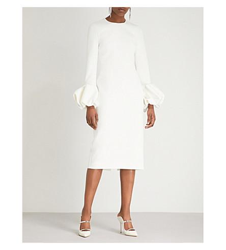 ROKSANDA Lena bell-cuff crepe dress (Ivory