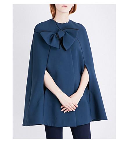 ROKSANDA Tilda bow-detail cady cape (Peakcoat