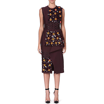 ROKSANDA ILINCIC Embellished dress (Maroon