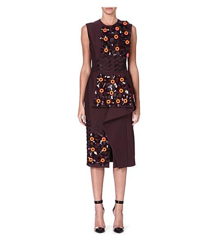 ROKSANDA ILINCIC Embellished dress (Maroon