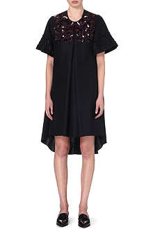 ROKSANDA ILINCIC Embellished cotton and silk-blend dress