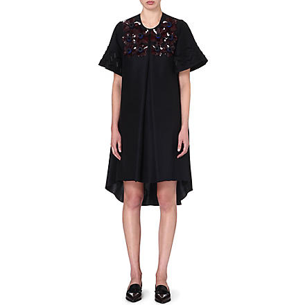 ROKSANDA ILINCIC Embellished cotton and silk-blend dress (Black