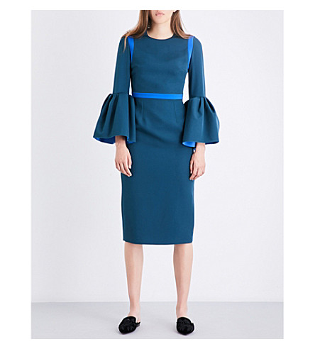 ROKSANDA Margot stretch-crepe dress (Peakcock