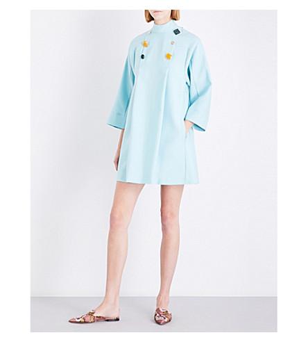 ROKSANDA Nerine wool and silk-blend mini dress (Spring+blue