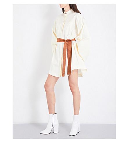 ROKSANDA Dalia tie-waist cotton-poplin dress (Ivory