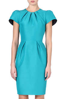 ROKSANDA ILINCIC Capped sleeve contrast panel pencil dress