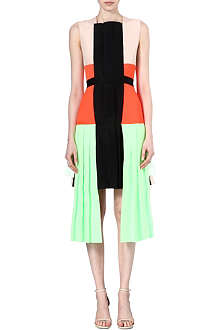 ROKSANDA ILINCIC Multi panel pleated dress