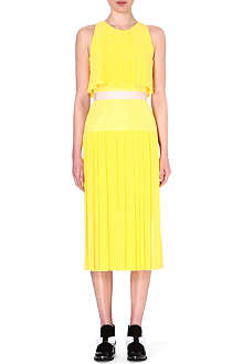 ROKSANDA ILINCIC Split-hemline silk-blend dress