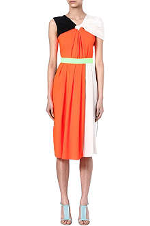ROKSANDA ILINCIC Draped-back dress