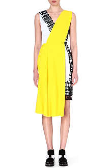 ROKSANDA ILINCIC Bi-colour pleat dress