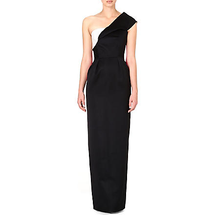 ROKSANDA ILINCIC Naida colour-block gown (Black