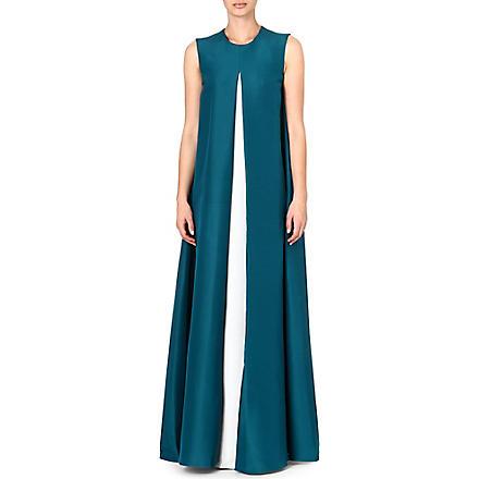 ROKSANDA ILINCIC Alia sleeveless gown (Petrol/ivory/peacock