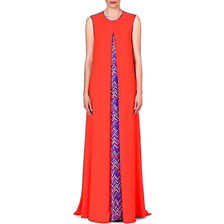 ROKSANDA ILINCIC Alia sleeveless gown (Tang/red herringprnt
