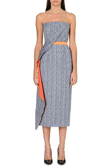 ROKSANDA ILINCIC Strapless side drape dress