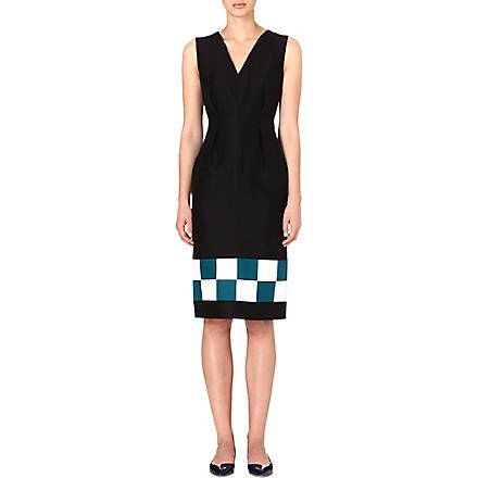 ROKSANDA ILINCIC Harleton colourblocked dress (Black/petrol/ivory