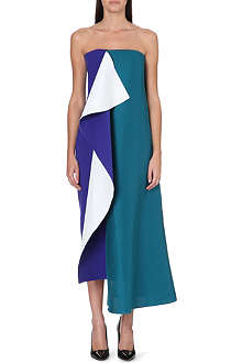 ROKSANDA ILINCIC Strapless drape panel dress