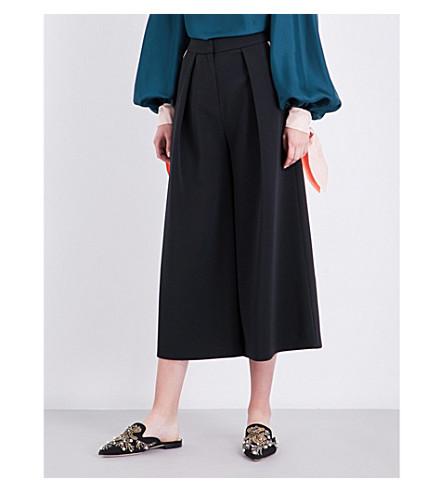 ROKSANDA Devin stretch-crepe culottes (Black