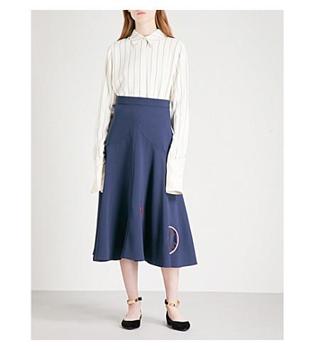 ROKSANDA Kanika crepe shirt (Black/white+stripe