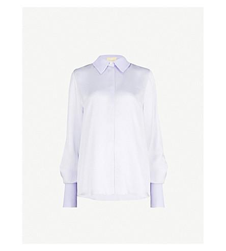 ROKSANDA Kanika speckled silk shirt (Pale+blue
