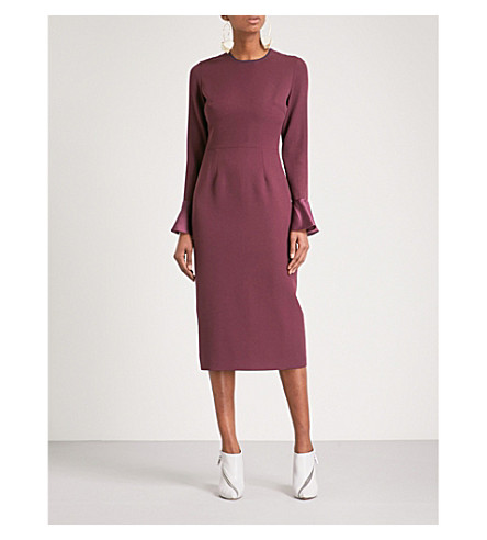 ROKSANDA Izumi fitted crepe dress (Plum