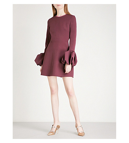 ROKSANDA Gaia bonded-crepe mini dress (Plum/musk