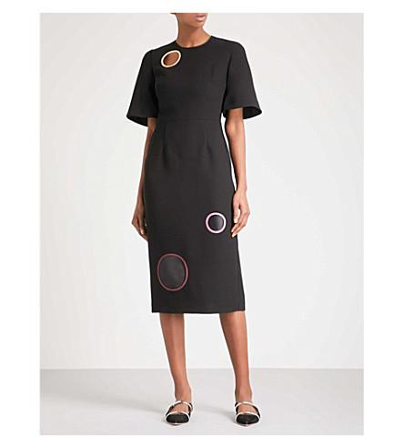ROKSANDA Emery circle-detail woven dress (Black