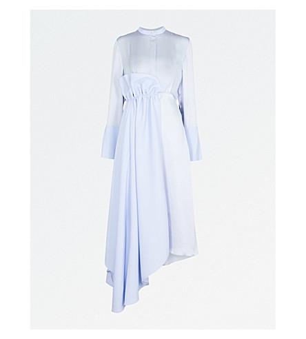 ROKSANDA Micah fit-and-flare silk-satin and cotton dress (Powder