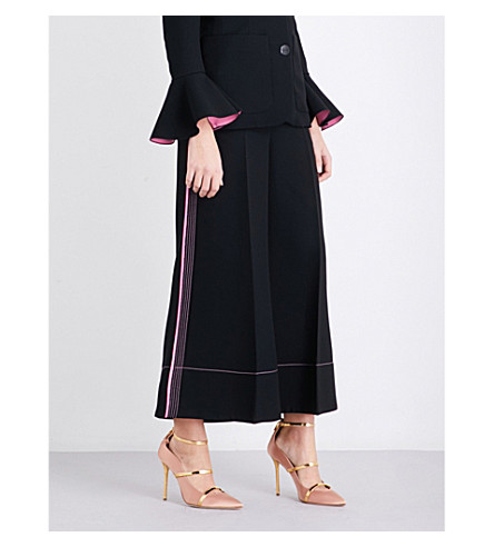 ROKSANDA Hasani wide-leg cropped crepe trousers (Black