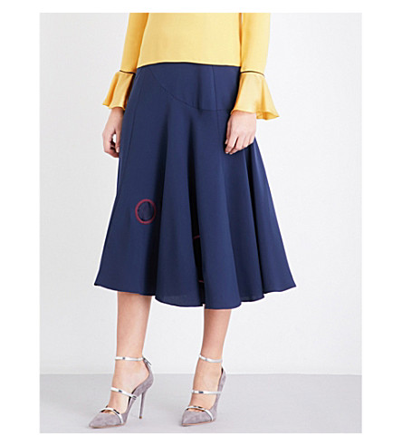ROKSANDA Carson silk-crepe midi skirt (Squid+ink