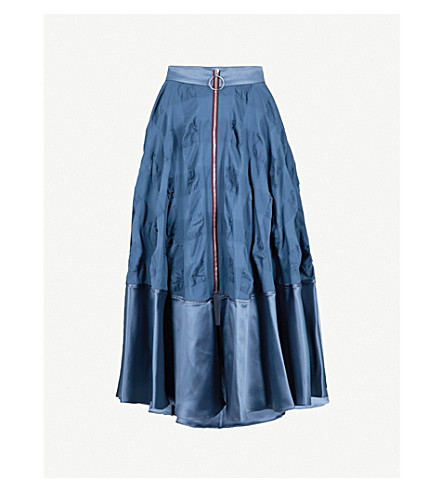 ROKSANDA Lamina silk-blend skirt (French+blue