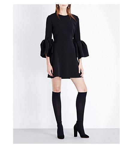 ROKSANDA Hadari stretch-crepe mini dress (Black